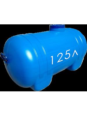 Пластиковая емкость для воды горизонтальная овал пищевая 125 л