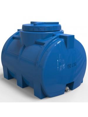 Пластиковая горизонтальная емкость для воды 150 л стандартная