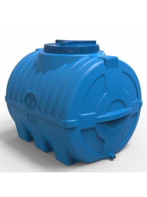 Ємність для води горизонтальна 200 л синя тришарова