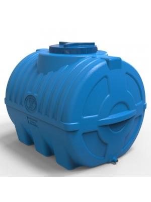 Ємність для води горизонтальна 300 л тришарова синя