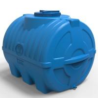 Емкость 500 л для воды горизонтальная трехслойная синяя