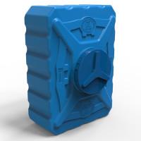 Емкость пластиковая квадратная 200 л трёхслойная синяя