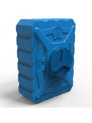 Бак для душа 200 литров пластиковый квадратный трёхслойный синий