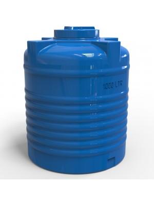 Пластиковая емкость для воды 1000 л вертикальная стандартная