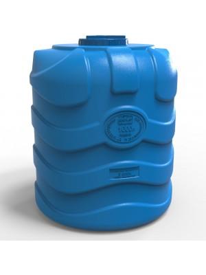 Емкость для воды 1000 л вертикальная трехслойная синяя