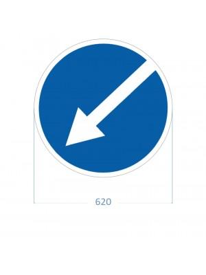 """Дорожній знак круглий 4.8 """"Об'їзд перешкоди зліва"""""""
