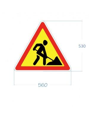 """Дорожній знак 1.37 """"Дорожні роботи"""""""