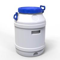 Бидон 55 л пластиковый пищевой средний