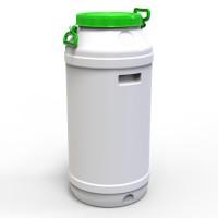 Бидон пластиковый пищевой 75 л зеленая крышка